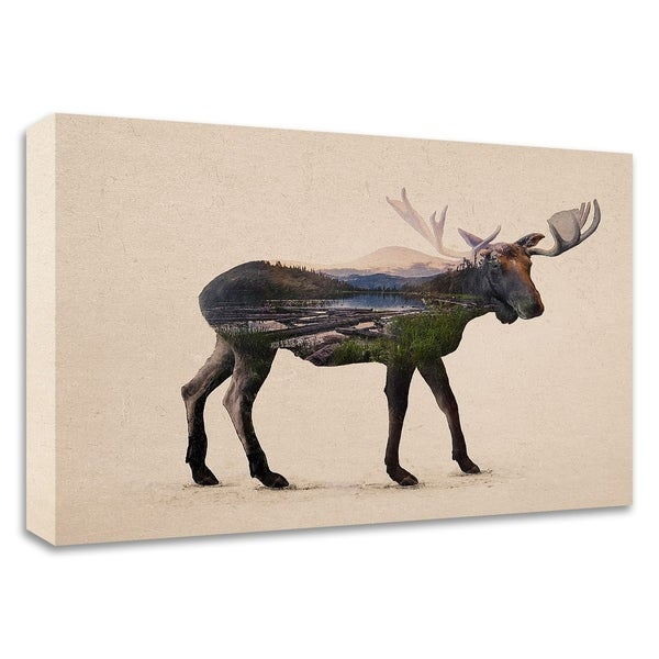 """""""The Alaskan Bull Moose"""" by Davies Babies, Print on Canvas, Ready to Hang"""