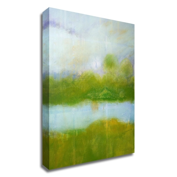 """""""Purple and Green Landscape"""" by Skadi Engeln, Print on Canvas, Ready to Hang"""