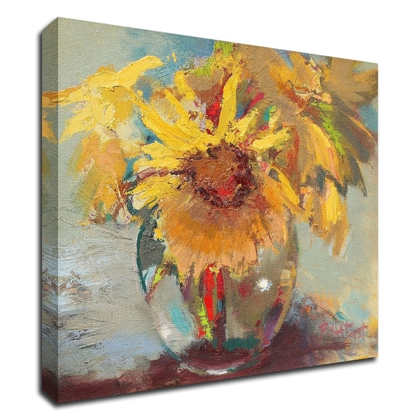 """Water Globe Blossoms"" by Beth A. Forst, Print on Canvas, Ready to Hang"