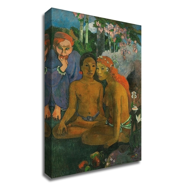 """""""Contes barbares"""" by Paul Gauguin, Print on Canvas, Ready to Hang"""