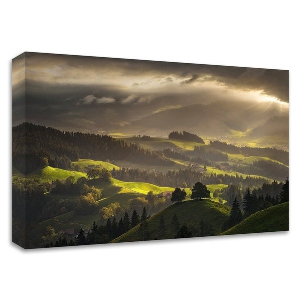 """""""The Shire"""" by Enrico Fossati, Print on Canvas, Ready to Hang"""