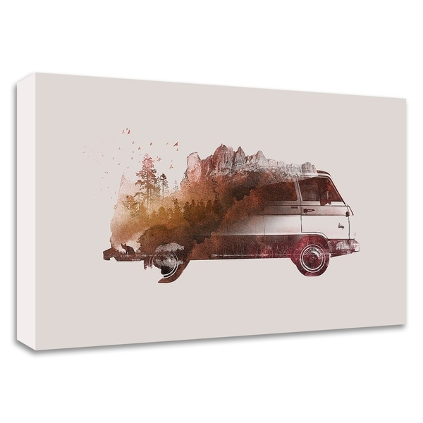 """Drive Me Back Home No. 1"" by Robert Farkas, Print on Canvas, Ready to Hang"