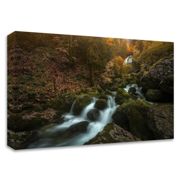 """""""Resplendent Stream"""" by Enrico Fossati, Print on Canvas, Ready to Hang"""