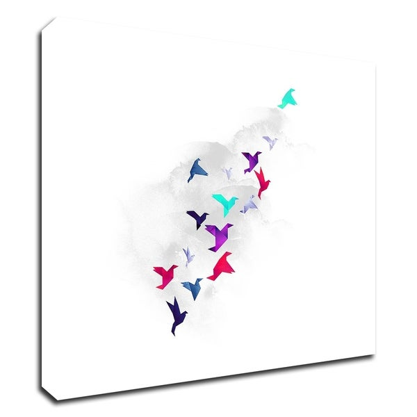 """Paper Birds"" by Robert Farkas, Print on Canvas, Ready to Hang"