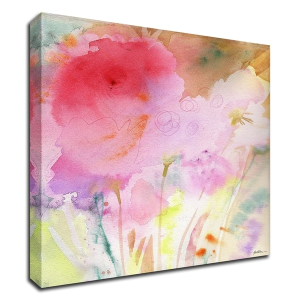 """""""Pink Whisper"""" by Sheila Golden, Print on Canvas, Ready to Hang"""