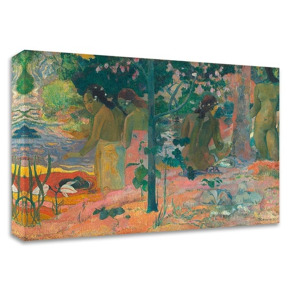 """""""The Bathers"""" by Paul Gauguin, Print on Canvas, Ready to Hang"""