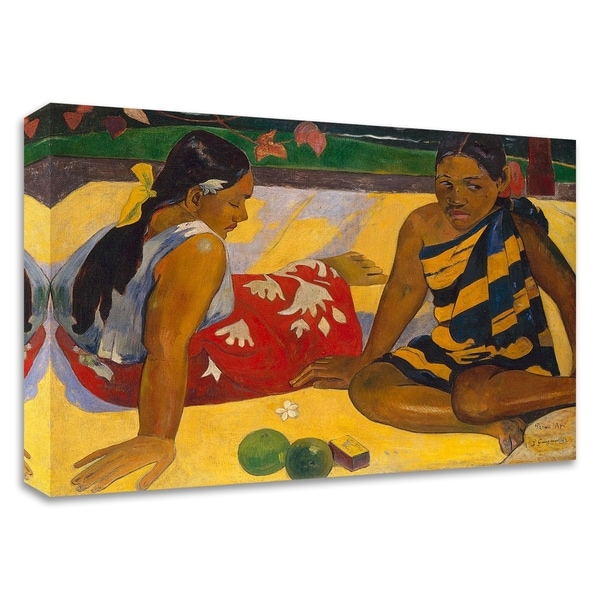 """""""What News"""" by Paul Gauguin, Print on Canvas, Ready to Hang"""