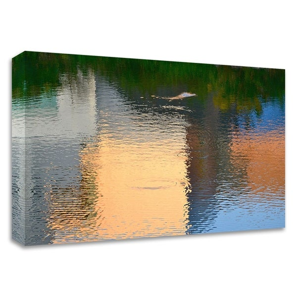 """""""Reflection on the Iowa River No. 1"""" by Ulpi Gonzalez, Print on Canvas, Ready to Hang"""