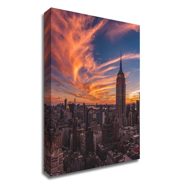 """""""9-11 New York Sunset"""" by Bruce Getty, Print on Canvas, Ready to Hang"""