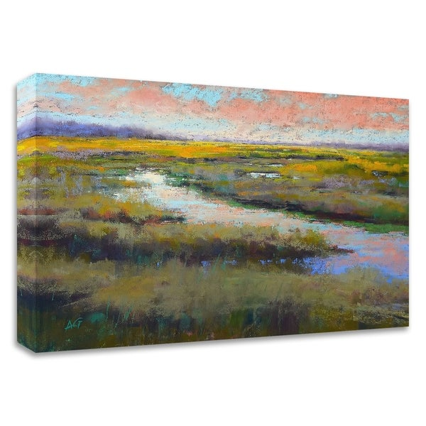"""""""A Glimmer on the Marsh"""" by Alejandra Gos, Print on Canvas, Ready to Hang"""