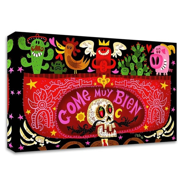 """Come Muy Bien"" by Jorge R. Gutierrez, Print on Canvas, Ready to Hang"