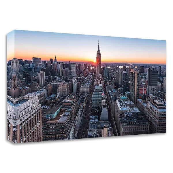 """Empire Sunburst Sunrise 2"" by Bruce Getty, Print on Canvas, Ready to Hang"