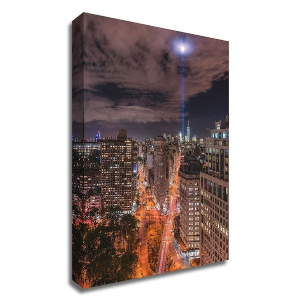 """""""Tribute Lights Flatiron District"""" by Bruce Getty, Print on Canvas, Ready to Hang"""