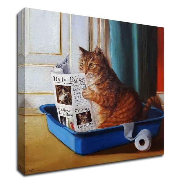 """Kitty Throne"" by Lucia Heffernan, Print on Canvas, Ready to Hang"