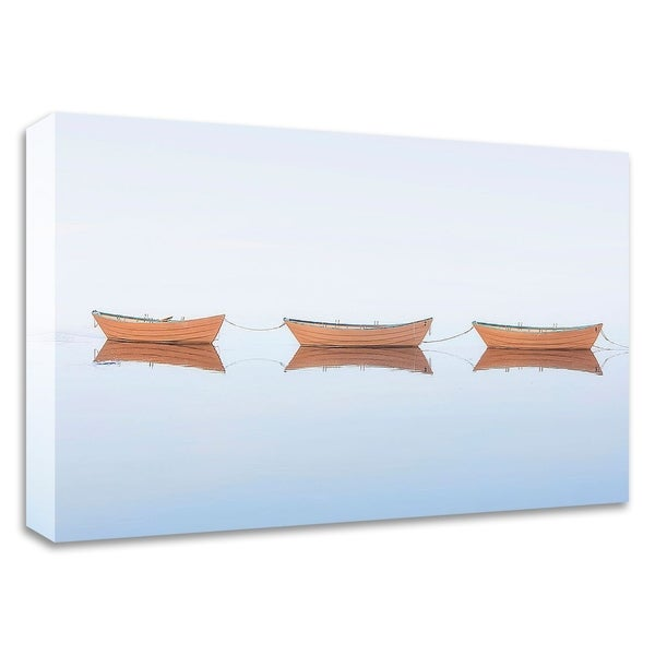 """Three Dories II"" by Katherine Gendreau, Print on Canvas, Ready to Hang"
