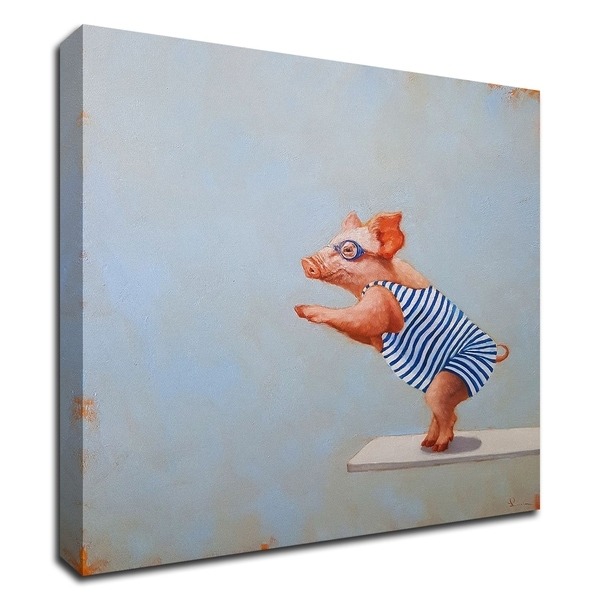 """""""The Plunge"""" by Lucia Heffernan, Print on Canvas, Ready to Hang"""