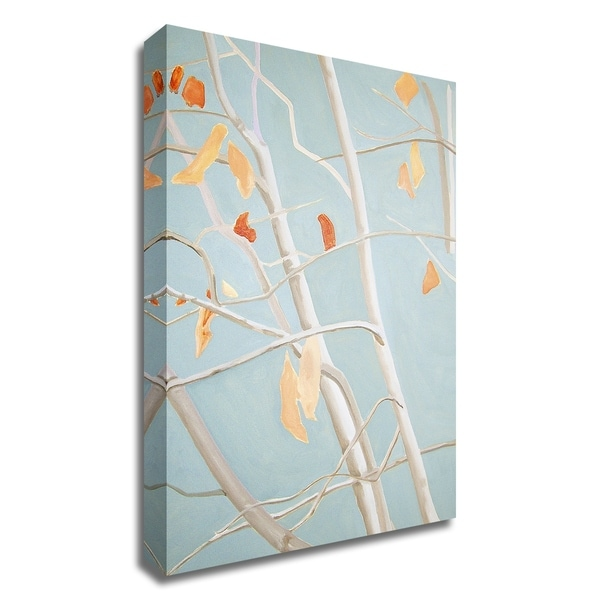 """Trees with Orange Leaves"" by India & Purry, Print on Canvas, Ready to Hang"