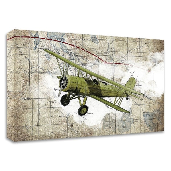"""Biplane 2"" by GraphINC Studio, Print on Canvas, Ready to Hang"