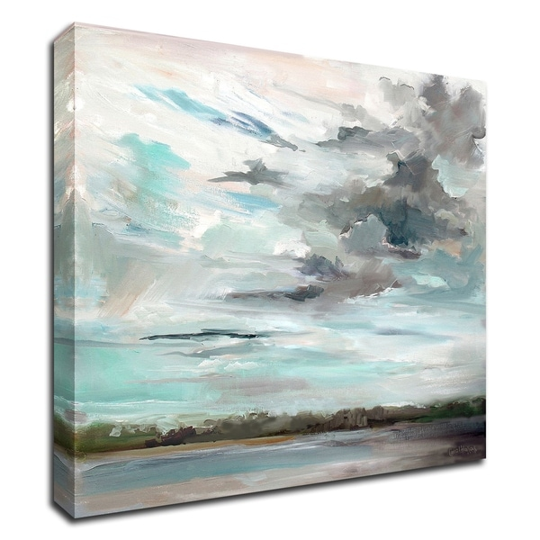 """""""Cloudy Days Don't Get Me Down"""" by Carol Hallock, Print on Canvas, Ready to Hang"""