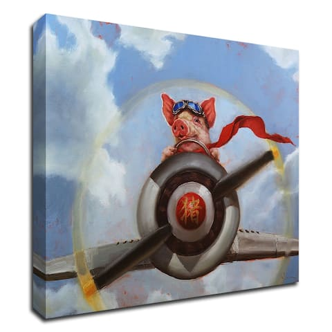 """""""When Pigs Fly"""" by Lucia Heffernan, Print on Canvas, Ready to Hang"""