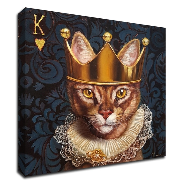"""King of Hearts"" by Lucia Heffernan, Print on Canvas, Ready to Hang"