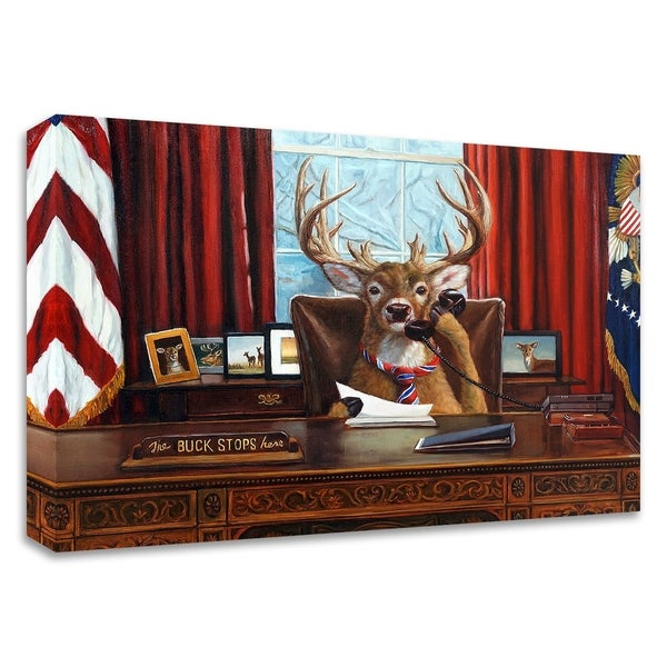 """""""The Buck Stops Here"""" by Lucia Heffernan, Print on Canvas, Ready to Hang"""