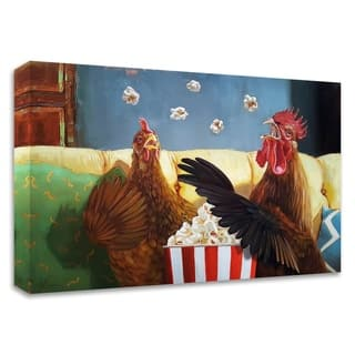 """Popcorn Chickens"" by Lucia Heffernan, Print on Canvas, Ready to Hang"
