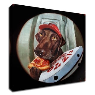"""Pupperoni"" by Lucia Heffernan, Print on Canvas, Ready to Hang"