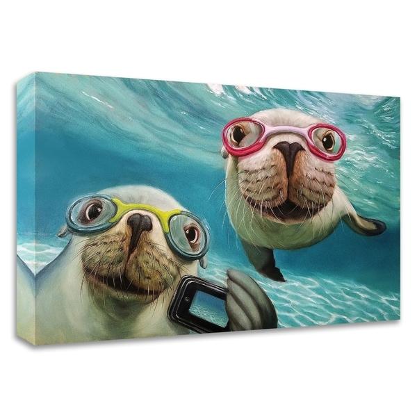 """Underwater Selfie"" by Lucia Heffernan, Print on Canvas, Ready to Hang"