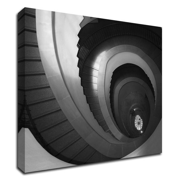 """Spiral Staircase No. 5"" by PhotoINC Studio, Print on Canvas, Ready to Hang"