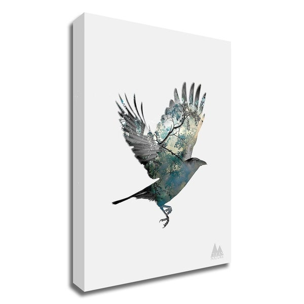 """Bird"" by Clean Nature, Print on Canvas, Ready to Hang"