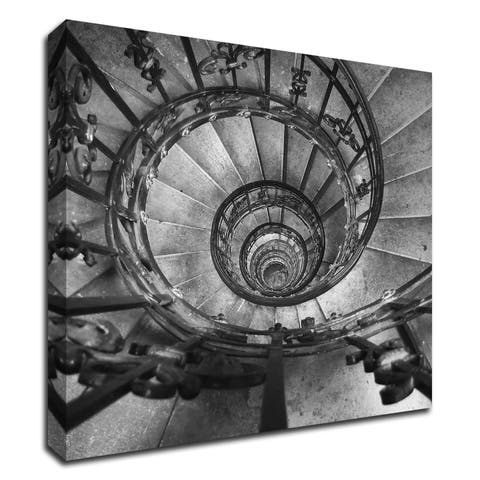 """Spiral Staircase No. 2"" by PhotoINC Studio, Print on Canvas, Ready to Hang"