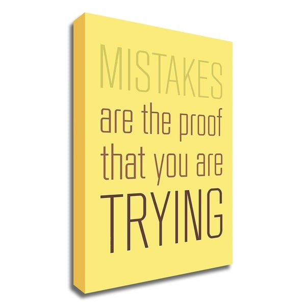 """""""Mistakes Are the proof"""" by GraphINC, Print on Canvas, Ready to Hang"""