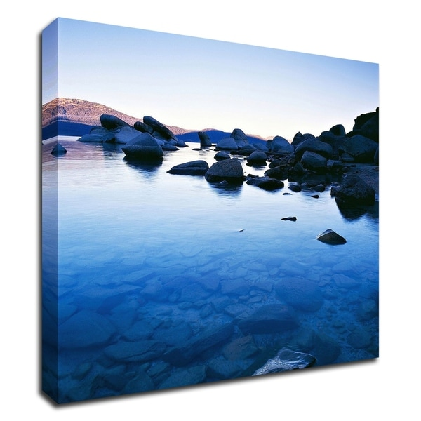 """Blue Rocks"" by PhotoINC Studio, Print on Canvas, Ready to Hang"