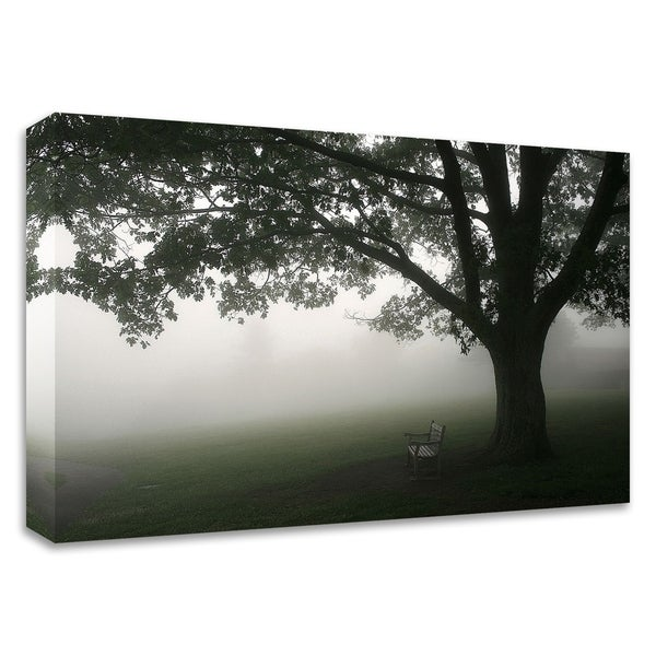 """""""Misty Bench"""" by PhotoINC Studio, Print on Canvas, Ready to Hang"""