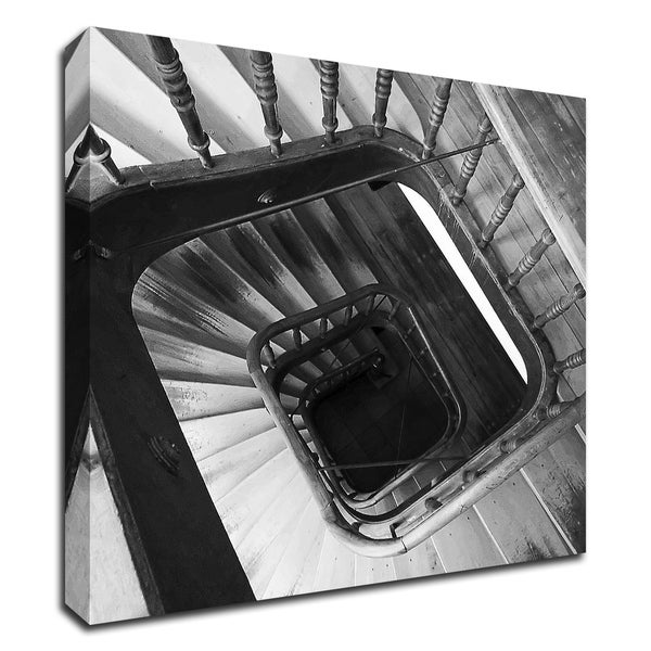 """Spiral Staircase No. 8"" by PhotoINC Studio, Print on Canvas, Ready to Hang"
