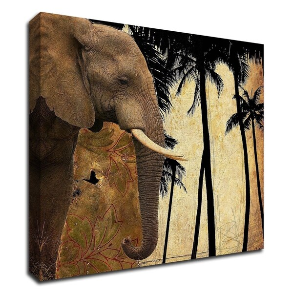 """""""Mighty Elephant 1"""" by GraphINC, Print on Canvas, Ready to Hang"""