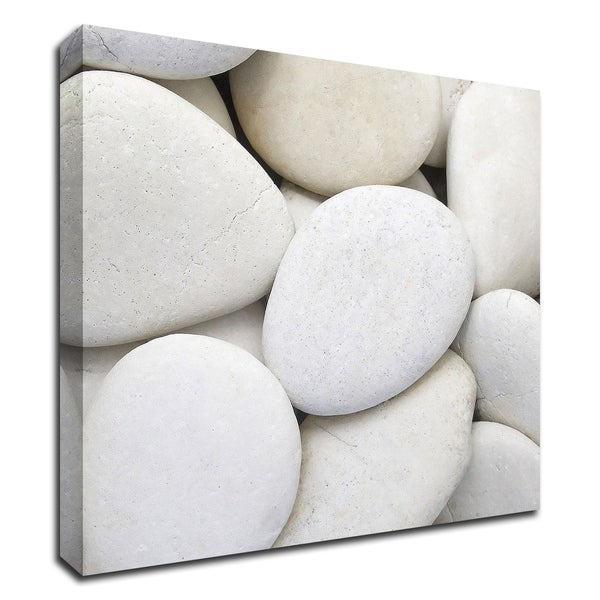 """""""White Pebbles"""" by PhotoINC Studio, Print on Canvas, Ready to Hang"""