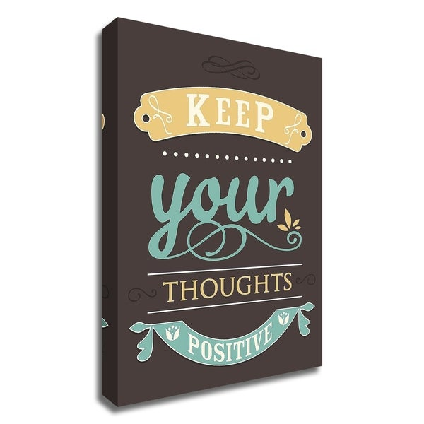 """""""Keep Your Thoughts"""" by GraphINC, Print on Canvas, Ready to Hang"""