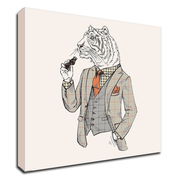 """""""Tiger-man"""" by GraphINC, Print on Canvas, Ready to Hang"""