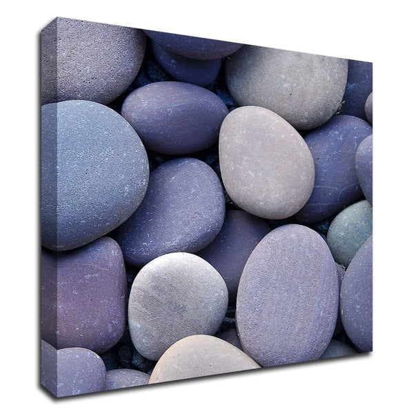 """Purple Pebbles"" by PhotoINC Studio, Print on Canvas, Ready to Hang"