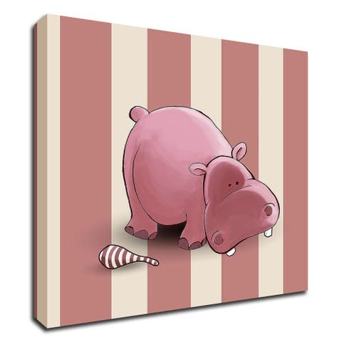 """""""Hippo"""" by GraphINC, Print on Canvas, Ready to Hang"""