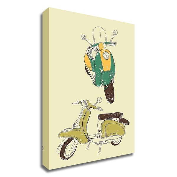 """""""Scooter III"""" by GraphINC, Print on Canvas, Ready to Hang"""