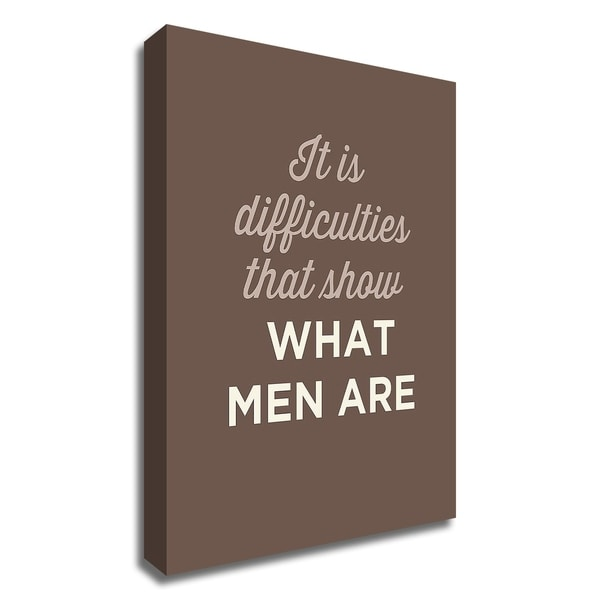"""""""What Men Are"""" by GraphINC, Print on Canvas, Ready to Hang"""