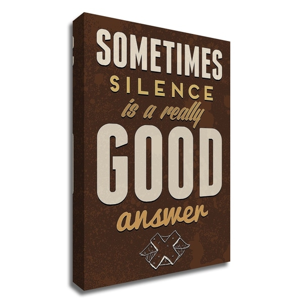 """Sometimes"" by GraphINC, Print on Canvas, Ready to Hang"