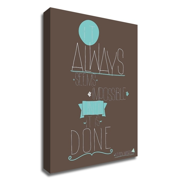 """It Always Seems"" by GraphINC, Print on Canvas, Ready to Hang"
