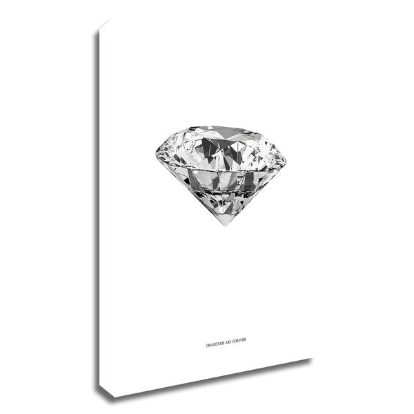 """""""Diamonds are Forever II"""" by TypeLike, Print on Canvas, Ready to Hang"""