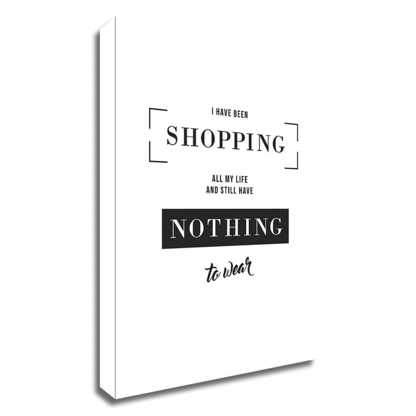 """""""Shopping"""" by TypeLike, Print on Canvas, Ready to Hang"""
