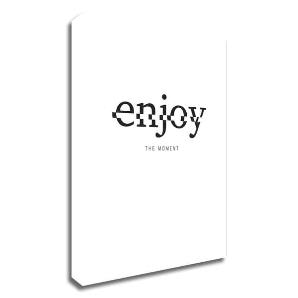 """""""Enjoy"""" by TypeLike, Print on Canvas, Ready to Hang"""
