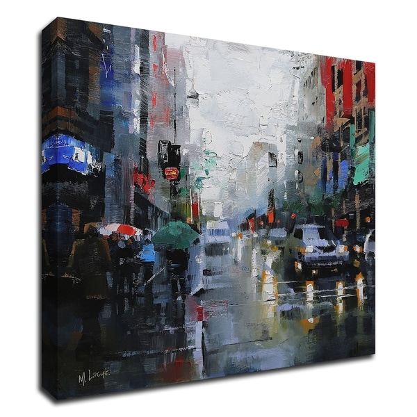"""""""St. Catherine Street Rain"""" by Mark Lague, Print on Canvas, Ready to Hang"""